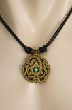 3 Point Knot & Celtic Swirls Pendant