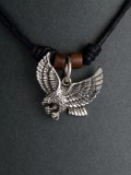 Silver Eagle with Wings Spread  pendant