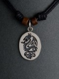 Silver Pendant Chinese Dragon