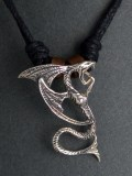 Silver Pendant Winged Dragon