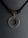 Silver Pendant Tribal Circle