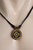 Celtic Cross Knot with Stone Pendant