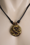 Chinese Dragon in Flames Pendant